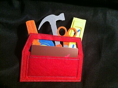 Papayrus Gift Card Holders Lot of 4 Tool Kit Design Felt Fabric NEW