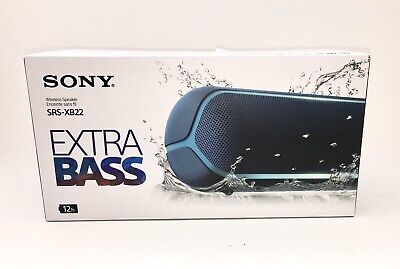 Sony SRS-XB22 Portable Bluetooth Speaker - Blue - New - Save up to 25 %