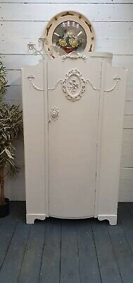 Vintage Painted French Style Wardrobe Shabby Chic CAN ARRANGE COURIER DELIVERY