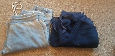 2 Pairs Of Blue Jogging Bottoms Size 8
