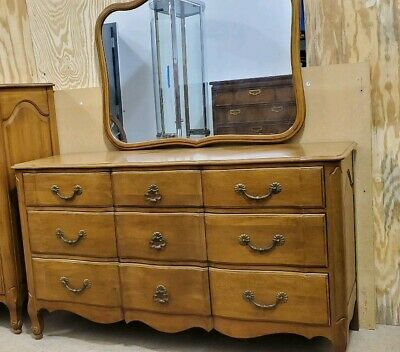 Provincial Long Dresser with Mirror Solid Cherry Davis Cabinet Company