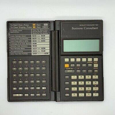 HP Hewlett-Packard 18C Business Consultant Calculator Tested Some Wear From Use