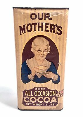 1920's-1930's Our Mother's Pure Cocoa Powder Tin, Hot Chocolate Box