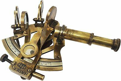 Solid Brass Sextant Nautical Maritime Astrolabe Marine