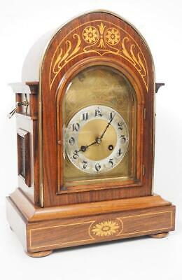 Antique Bracket Clock Musical Quarter Striking Westminster 8 Day Mantel Clock