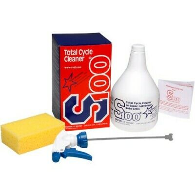 S100 SM-12001B Total Cycle Cleaner 1L with Spray Bottle and Sponge