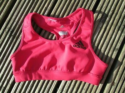 ADIDAS Girls Fitness Sports Red Cropped Top  Age 9-10 Years / Small