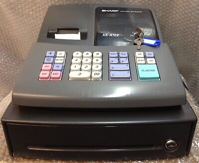 SHARP XE-A102B Electronic Cash Register Complete With Till Rolls And Free P&P