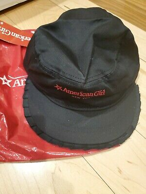 American Girl CL MY AG DALLAS RUFFLE CAP for Girl One Size Black Hat NEW