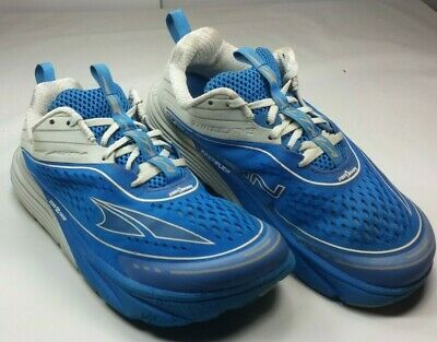Altra Men's Torin 4 Road 3.5 Running Shoes Blue Fabric Light Weight Sz 9 M/42.5