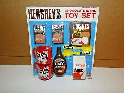 Vintage Hershey's Chocolate Drink toy set complete 1990 Fun Stop  NO.1600 Rare