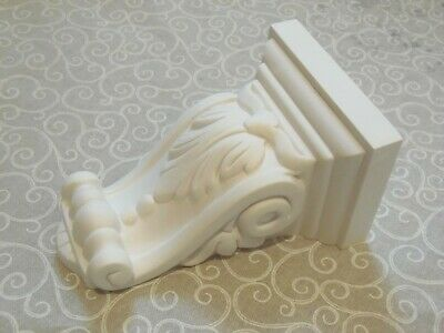 pair of medium size classic leaf design victorian plaster corbels made in the UK