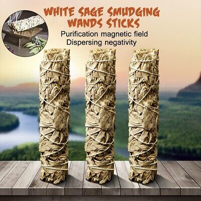 California White Sage Smudging Wands Stick For Home Clean Negativity Removal