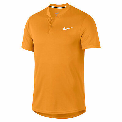 Nike Court Dry tennis henley collar polo shirt - Dri-Fit adult S slimfit