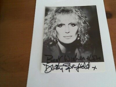 DUSTY SPRINGFIELD signed autograph PHOTO DISPLAY Sixties
