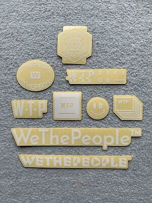 """NEW 2 x We The People BMX Frame Stickers 10.5/"""" Clear /& Silver Sticker Decals WTP"""