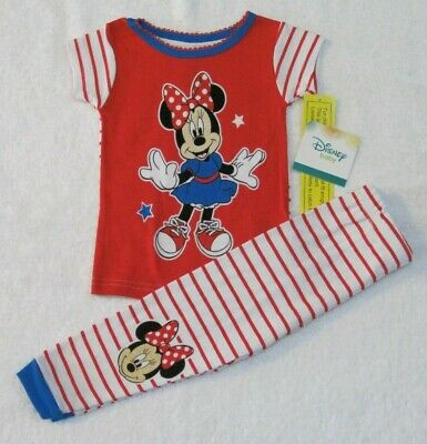 Baby Girls Minnie /& Mickey I Love You This Much Cotton Snug Fit Pajamas