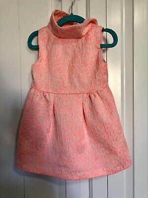 CRAZY 8 Girls Coral/Pink Sleeveless Party Dress Size 18-24 Months