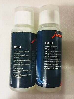 5 x Jura Cappuccino 100ml Milk System Cleaner for Coffee Machines - 100% genuine
