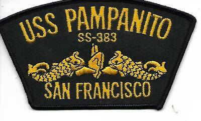 Embroidered Submarine Otto Ball Cap USS Barbero SS 317 BC Patch