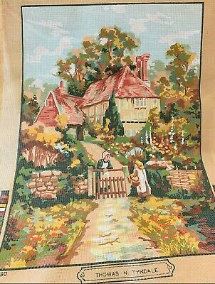 Collection d'Art Large Tapestry Canvas (Only) Country Village Scene 47x64cm, NEW