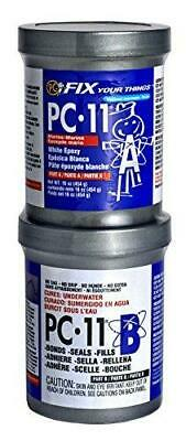 PC-Products PC-11 Epoxy Adhesive Paste, Two-Part Marine Grade, 1lb in Two Cans,