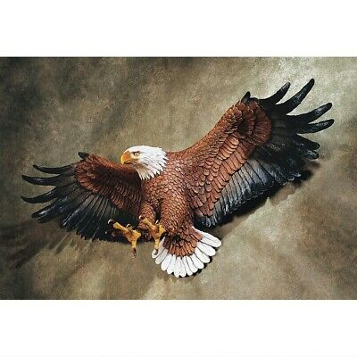 """Freedoms Pride American Eagle Hand Painted 31"""" Wall Sculpture Hanging Home Decor"""