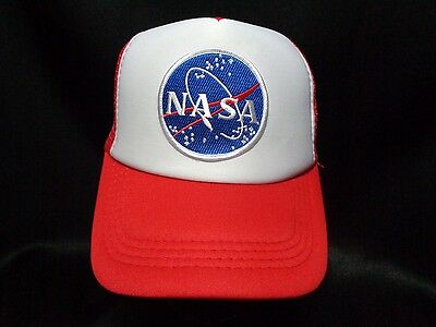 Unisex Embroidered Logo Baseball Cap Hat NASA Space Science Moon Astronaut Hot
