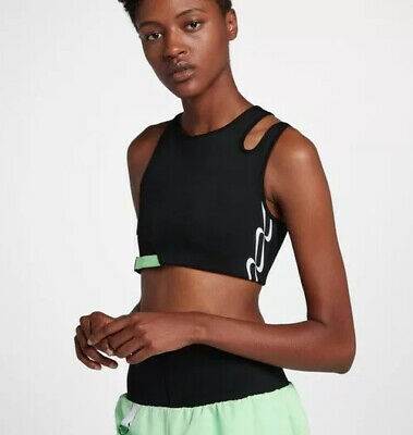 Nike NikeLab Wmns x OR Olivier Rousteing Lion Crop Tank Top 834290-010 Size S