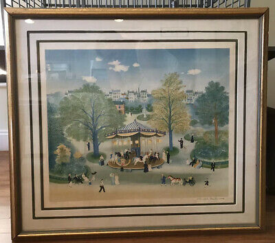 Delacroix Carousel Limitd Edition Lithograph Stone Signed Print