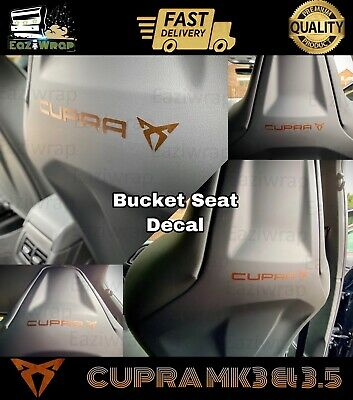 Eaziwrap Leon Cupra Bucket Seat Sticker COPPER