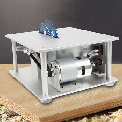 Mini Table Saw Blade Woodworking Bench Cutting Tool+Power adapter+3 Blades+plate