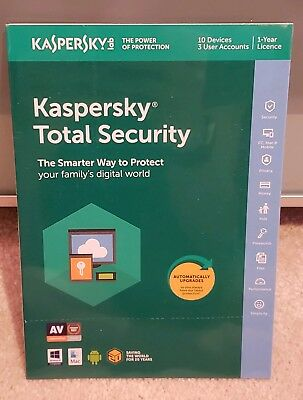 KASPERSKY Total Security 2019 - 10 Device Activation - Retail -sealed fast post