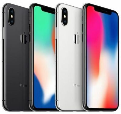 Apple iPhone X 64GB 256GB Factory Unlocked Smartphone iOS-All Colours+Grades