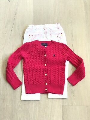 [Gift] Ralph Lauren Cable Cardigan Pink Girl size 4/4T