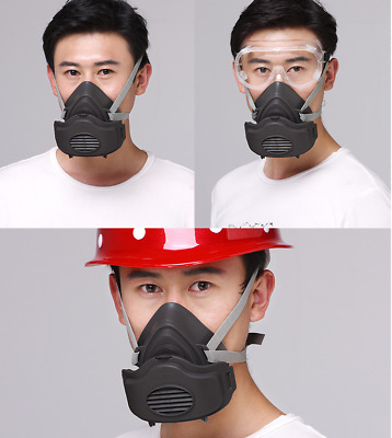 Half Face Anti Gas Mask Survival Safety Respiratory Emergency Filter Face Mask