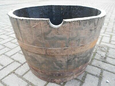 Genuine Oak Half Whiskey Barrels - Wooden Patio / Garden Planter - 10+ Available