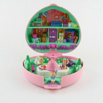 POLLY POCKET 1992 Partytime Party Time Birthday Stamper *COMPLETE w/ CAKE*