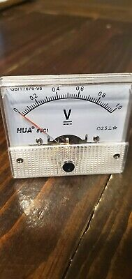 DC 30V Analog Panel Volt Voltage Meter Voltmeter Gauge 85C1 0-30V White