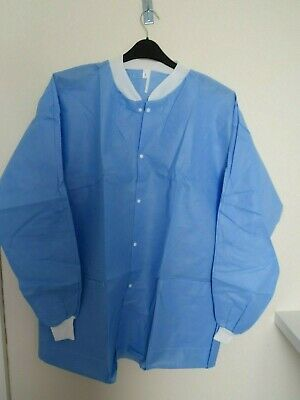 1x  Medical Cover Gown Surgical Laboratory Isolation short overalls top - L