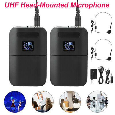 Portable Wireless UHF Mic kit Head-mounted Microphone with Receiver Transmitter