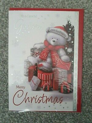 Me to You Bear Adorable New Christmas Greeting Card New Gift Boy Godson
