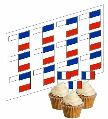 Cupcake Decoration Happy Fathers Day Picks UNCUT 12 Stand Up Wafer Paper