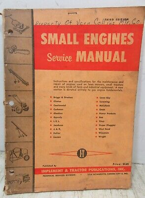 Small Engine Repair Service Manual   Briggs Stratton Lycoming Onan More