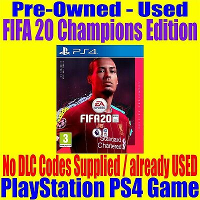 FIFA 20 Champions Edition PS4 Playstation 4 Game Sony  All DLC have been USED