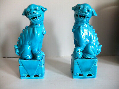 A pair of vintage Chinese Foo dogs / lions in perfect condition