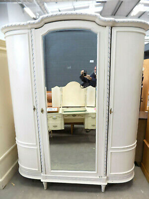 antique,knock down,French,wardrobe,flat pack,mirrored,curved,armoire,linen press