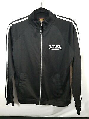 Von Dutch Black Track  Active Jacket Size Medium