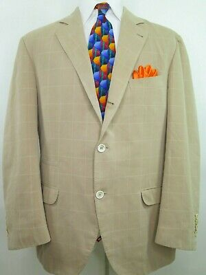 Brunello Cucinelli Checks Windowpane Italian Blazer Jacket Sport Coat 44/46 R