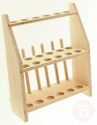 neoLab E-7057 Wooden Test Tube Rack for 12 Test Tubes with 2 Levels Hole ...